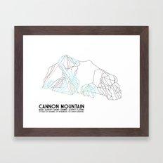 Cannon Mountain, NH - Minimalist Trail Art Framed Art Print
