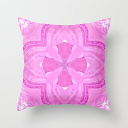 Jade Agate Stone Flower Fuchsia Throw Pillow