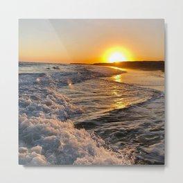 Sea Sunset Sunrise Metal Print