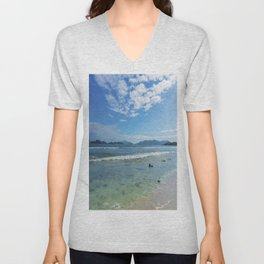 Lindquist Beach St. Thomas, Virgin Islands Unisex V-Neck