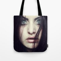 fear Tote Bags featuring Fear by Funkygirl4ever95