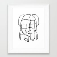 amy sia Framed Art Prints featuring sia bobs by Melina Espinoza