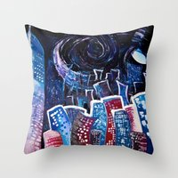 starry night Throw Pillows featuring Todays' 'Starry Starry Night' by Cassandra Evelyn
