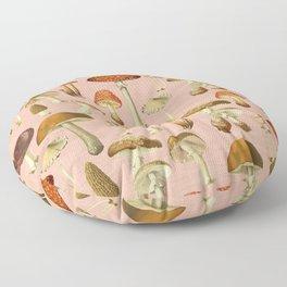 Mushrooms pink Floor Pillow