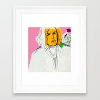 dana scully Framed Art Prints featuring Dana Scully by Alyssa Taylor