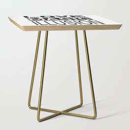 love can sometimes be magic - but magic is just an illusion Side Table