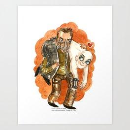 Mad Max and Nux Hug Art Print