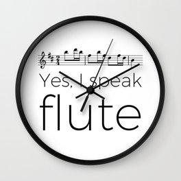 I speak flute Wall Clock