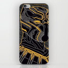 The King Of Wakanda - Panther Pattern iPhone Skin
