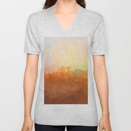 Baton Rouge, Louisiana Skyline - In the Clouds Unisex V-Neck