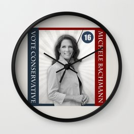 Michele Bachmann For President Wall Clock