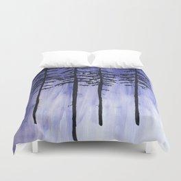 Lavender Pine Trees Duvet Cover