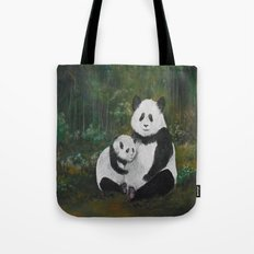 Panda Momma and Baby Tote Bag