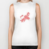 kitty Biker Tanks featuring Kitty by Anchobee