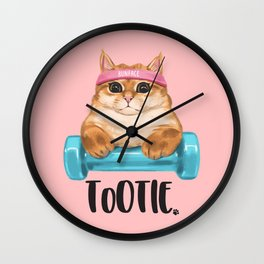 """ToOtie Bunface """"I'm Sa Cathletic"""" Goodies Wall Clock"""