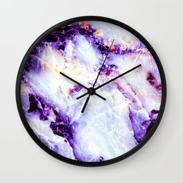 Abstract marble purple colorful Wall Clock