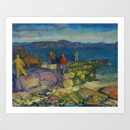 """George Wesley Bellows """"Dock Builders"""" Art Print"""