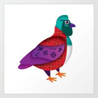 London Pidgeons Art Print
