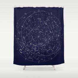 Constellation Map Indigo Shower Curtain