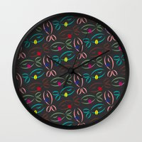 trout Wall Clocks featuring Trout Pouts by Lesley Anderson