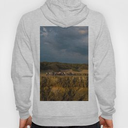 la mine france aerial drone shot cliff people sunset clouds goldenhour Hoody