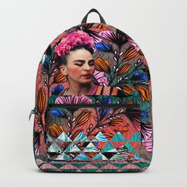 Flowery Frida Backpack