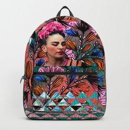 Flowery Frida Backpack