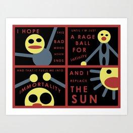 Rage Ball Art Print