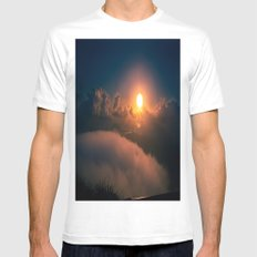 Sunrise view from Stairway to Heaven Trail Oahu HI White Mens Fitted Tee MEDIUM