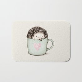 Hedgehog in a Mug Bath Mat