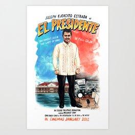 Joseph Estrada as featured in Esquire Philippines January 2012 Art Print
