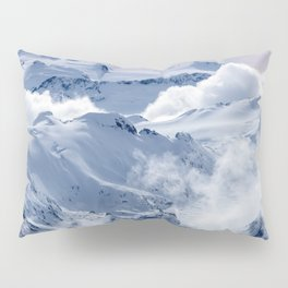 Snowy Mountains and Glaciers Pillow Sham