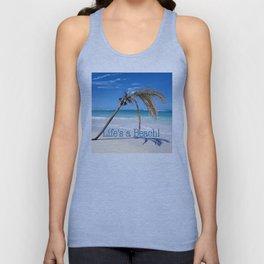 Landscape | Palm and Beach | Life's a Beach! | Nadia Bonello Unisex Tank Top