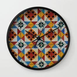 Azulejos V Wall Clock