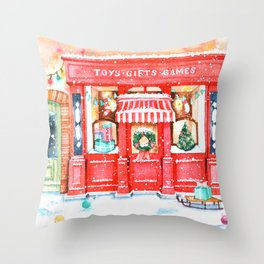Toys Gifts Games Winter Throw Pillow