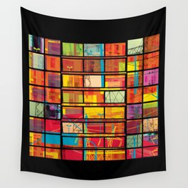 Fragmented Worlds XI Wall Tapestry