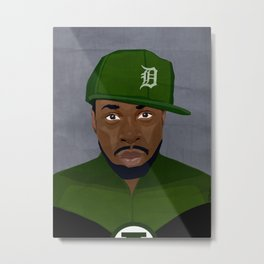 Detroit Hip-Hop Hero II Metal Print