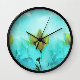 Row Of Crocuses Wall Clock