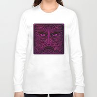 maori Long Sleeve T-shirts featuring Maori style 02 by Alexis Bacci Leveille