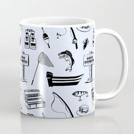 Gone Fishing // Light Blue Coffee Mug