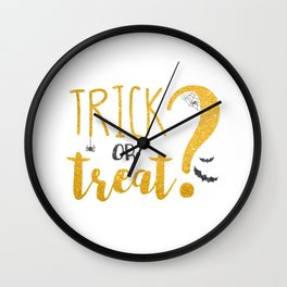 Trick Or Treat? | Glitter Wall Clock