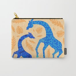Dancing Blue Giraffes Carry-All Pouch