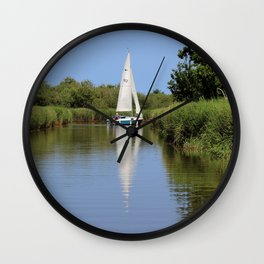 Sailing on the Norfolk Broads Wall Clock