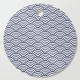 Japanese Koinobori fish scale Delft Blue Cutting Board