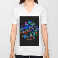 party V-neck T-shirts featuring Party! by Judy Kaufmann