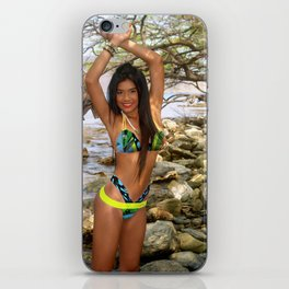 [ BIODIVERSE.CO ] Colombian Exotic Sexy Girl Ween on the Rocks iPhone Skin