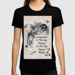 Alice In Wonderland Quote - Imagination T-shirt