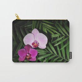Orchids with palm leaves Carry-All Pouch