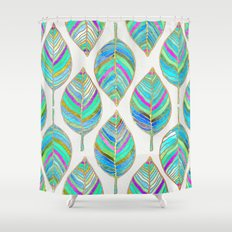 Spring Leaves Shower Curtain