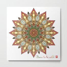 Mandala - Born to be Wild Metal Print